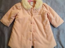 Pink Coat Baby Girl Gymboree Vintage Faux Fur collar Gorgeous 12-18 months EUC