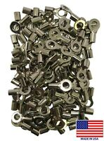 100 Piece High Temperature Non-Insulated 8 Gauge AWG 1/4 Stud Wire Ring Terminal