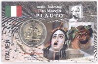 2 Euro Coincard / Infokarte Italien 2016 Plauto