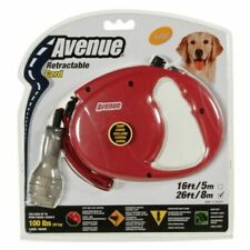 Avenue Retractable Lead Large Long Red 8m Length Grip Dog Puppy Cord Protective