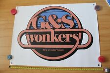 G&S Gordon Smith Kryptonics Wonkers Skateboarding Vinyl Reprint 33x45in. Banner