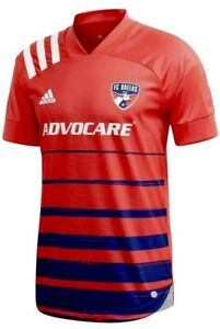 Adidas FC Dallas MLS 20/21 Home Soccer Football Jersey SS Red Mens Size Large