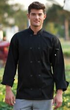 Long Sleeve Black Chef Coat with Buttons Uncommon Threads 3Xl Unisex Nwt