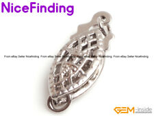 14K White Gold Filled Clasp Connector For Jewelry Making Repair Finding 5x13mm