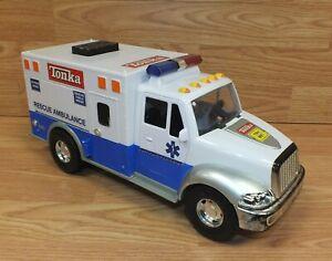 Genuine Tonka Hasbro Blue & White Rescue Ambulance Toy Truck *READ Details*