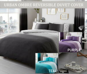 Urban OMBRE  Duvet Quilt Cover with Pillowcases Bedding Set Single, Double, King