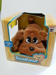 Vintage Pound Puppies New In Box Old Stock Rare! Brown Puppy KB Toys