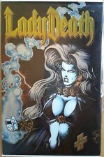 """Lady Death"" Chaos Comics, limited & on-going series w/ previews, chromium, more"