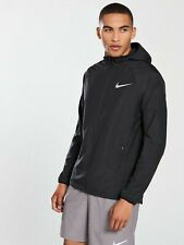 Nike Essential Hooded Running Full Zip Pocket Jacket Men Dark Grey Size XXL