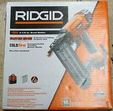 RIDGID R213BNE 2-1/8 In. 18-Gauge Pneumatic Strip Brad Nailer Air Powered Tool