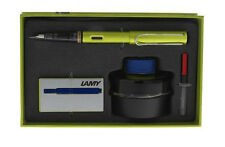 Lamy Charged Green Medium Point Fountain Pen bottle ink cartridges Gift Set L52G