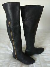 Stuart Weitzman For Russell Bromley Ladies Leather Knee Boots, Size UK5.5, US7.5