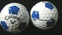 "10 CALLAWAY  ""CHROME SOFT"" - with ""BLUE TRUVIS"" - Golf Balls - ""PEARL"" Grade."