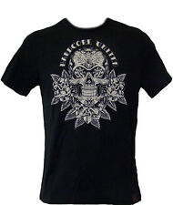 Hardcore United Limited Edition SKULLROSE Tattoo Style Skull T-Shirt Slim-Fit XL