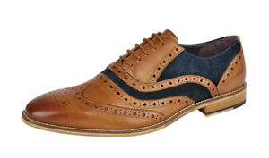 Mens Gatsby Wedding Brogues Shoes Lace Up Casual Smart Wedding Formal