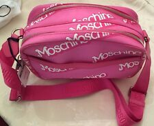 SALE! SS15 Moschino Couture Jeremy Scott Barbie Pink Logo Print Crossbody Bag