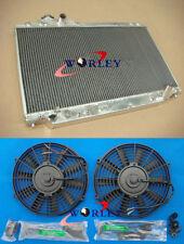 Aluminum Radiator + Fans For Toyota Supra JZA80 Turbo 1993-1998 AT/MT