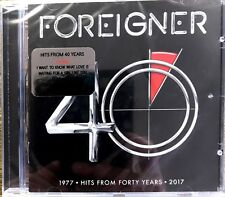 FOREIGNER 40: HITS FROM FORTY YEARS CD ALBUM (Greatest Hits / Very Best Of )