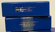 EMPTY USED BLUE PCGS PLASTIC SLAB BOX (HOLD 20 SLABS), FREE SHIP