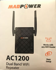MADPOWER WiFi Range Extender 1200 Mbps with WPS Internet Wireless Signal Booster