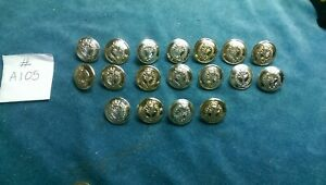 18 x British Army WELSH GUARDS  staybright buttons #A105