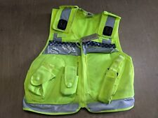 Hi Vis Tactical Security Law Enforcement Baton Pouch Vest Size Medium UK #248