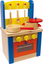 Cucina GIOCO con accessori LEGNO per Bambini di ruolo in NUOVO