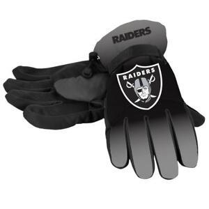 Las Vegas Raiders Gloves Big Logo Gradient Insulated Winter NEW Unisex S/M L/XL