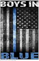Boys in Blue Line American Flag Sublimated T-Shirt