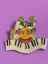 Hard Rock Cafe STOCKHOLM 1990s Drum Kit Sax Piano Keys PIN Grid Bk HRC #9173