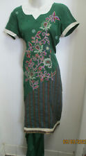 beautiful full   embroidery  churidaar salwar kameez size  M 40