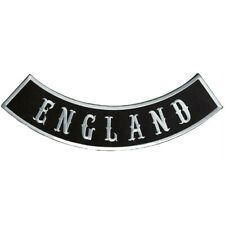 Custom personalised Embroidered  TOP & BOTTOM ROCKERS CLOTH PATCHES  3 sizes