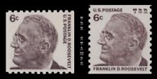 1298 & 1305 Roosevelt 6c Prominent Americans Coil Variety Set of 2 MNH - Buy Now