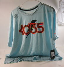 New Men's 645153 450 Nike Dri Fit Cotton Tee Light Blue Size Xxl *