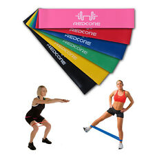 New 6pcs Resistance Exercise Loop Bands Home Gym Fitness Premium Natural Latex