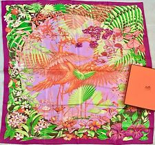 Authentic NEW Hermes Silk scarf 'FLAMINGO PARTY' L. Bourthouieux BOXED!! 90 CM