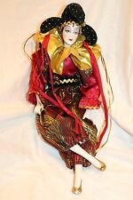 PORCELAIN DOLL RED JESTER COLLECTIBLE