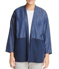 7645a72a5d0 Eileen Fisher Tencel Organic Cotton Denim Kimono Jacket Midnight Plus Size  1x
