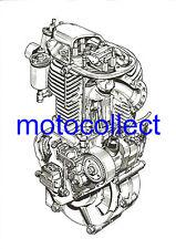 ESO  Speedway Engine..Cutaway Drawing..A3 Print..Free Postage Worldwide