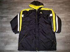 Vintage Adidas Coat Winter Parka Yellow & Black Trefoil Logo 90s Jacket Size Xl