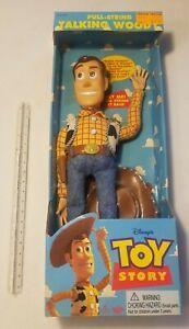 VINTAGE DISNEY Toy Story Pull String Talking Woody Doll Vintage 1995 READ DESCR>
