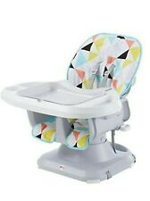 The Fisher-Price SpaceSaver High Chair - Color Yellow/Blue/Red