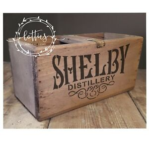 A5 Stencil PEAKY BLINDERS Shelby Distillery - Furniture Crates Upcycle Crafts
