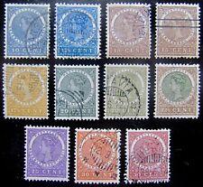 N-I NVPH 48 - 57 Wilhelmina 1903 - 1908 prachtig gebruikt  CW 10,-