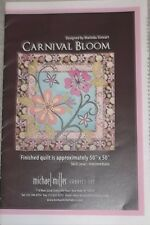 "New Carnival Bloom Quilt Pattern 50"" x 50"" Marinda Stewart For Michael Miller"