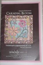 "NewCarnival Bloom Quilt Pattern 50"" x 50"" Marinda Stewart For Michael Miller"