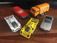 4 X corgi toys Cars & 1 X Matchbox job lot Jaguar Porsche Volvo Fiat Faun AK435