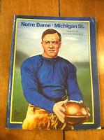 1981 NOTRE DAME VS. MICHIGAN STATE FOOTBALL PROGRAM