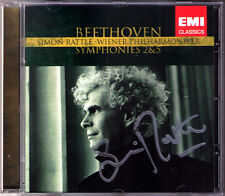 Sir Simon Rattle firmato Beethoven Symphony No. 2 & 5 Vienna Filarmonica CD