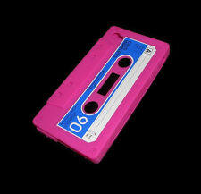 NEW PINK CASSETTE TAPE SILICONE RUBBER GEL IPHONE 4 4S CASE SUPER FAST SHIPPING